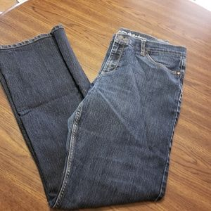 Women size 32x33 curvy straight leg Jean buffalo